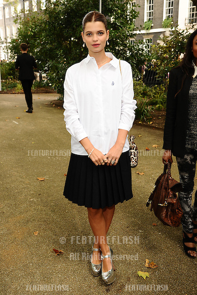 Pixie Geldof arriving at the Unique catwalk show as part of London Fashion Week SS13, Top Shop Venue, Bedford Square, London. 16/09/2012 Picture by: Steve Vas / Featureflash