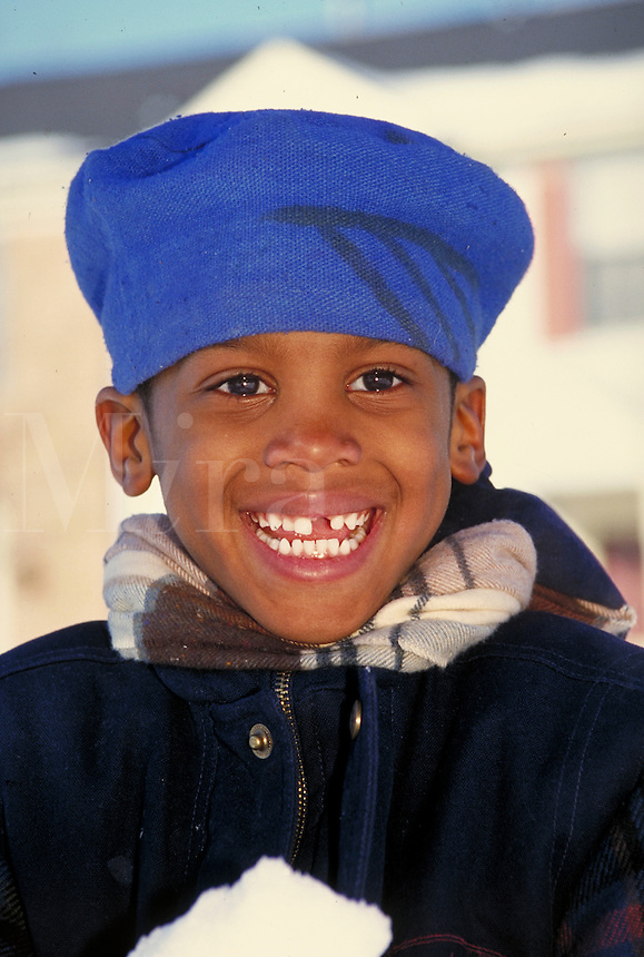 YOUNG AFRICAN-AMERICAN BOY. AFRICAN-AMERICAN. NEWARK NEW JERSEY USA.