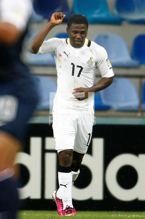 Ghana's Ebenezer Assifuah celebrate his goal during their FIFA U-20 World Cup Turkey 2013 Group Stage Group A soccer match Ghana betwen USA at the Kadir Has stadium in Kayseri on June 27, 2013. Photo by Aykut AKICI/isiphotos.com