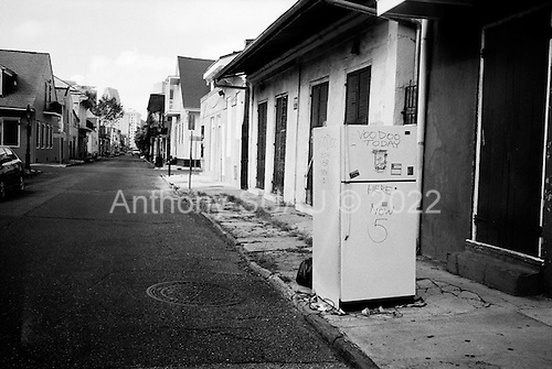 New Orleans, Louisiana.USA.September 29, 2005 ..Hurricane Katrina damage and recovery. The French Quarter.