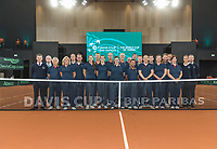 The Hague, The Netherlands, September 17, 2017,  Sportcampus , Davis Cup Netherlands - Chech Republic, Umpires, Lines men and woman<br /> Photo: Tennisimages/Henk Koster