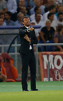 Barcellona's headcoach Luis Enrique  during the Champions League Group E soccer match against AS Roma   at the Olympic Stadium in Rome September 16, 2015