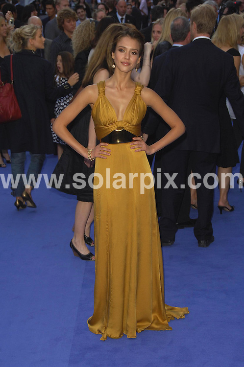 **ALL ROUND PICTURES FROM SOLARPIX.COM**.**WORLDWIDE SYNDICATION RIGHTS**.The premiere of Fantastic Four Rise of the Silver Surfer at the Vue West End, Leicester Square London last night..This pic:Jessica Alba.JOB REF: 4065- MSR    DATE: 13_06_07.**MUST CREDIT SOLARPIX.COM OR DOUBLE FEE WILL BE CHARGED* *UNDER NO CIRCUMSTANCES IS THIS IMAGE TO BE REPRODUCED FOR ANY ONLINE EDITION WITHOUT PRIOR PERMISSION*