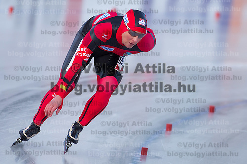 Germany's Claudia Pechstein competes in Women's 5000m race of the Speed Skating All-round European Championships in Budapest, Hungary on January 8, 2012. ATTILA VOLGYI
