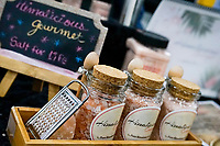 NEW YORK, NY - JUNE 25: Himalicions gourmet salt at a stand during the Summer Fancy Food Show at the Javits Center in the borough of Manhattan on June 23, 2019 in New York, The Summer Fancy Food Show is the largest and biggest specialty food industry event in the continent (Photo by Eduardo MunozAlvarezVIEWpress/Corbis via Getty Image