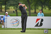 Sergio Garcia (ESP) watches his tee shot on 3 during 1st round of the World Golf Championships - Bridgestone Invitational, at the Firestone Country Club, Akron, Ohio. 8/2/2018.<br /> Picture: Golffile | Ken Murray<br /> <br /> <br /> All photo usage must carry mandatory copyright credit (&copy; Golffile | Ken Murray)