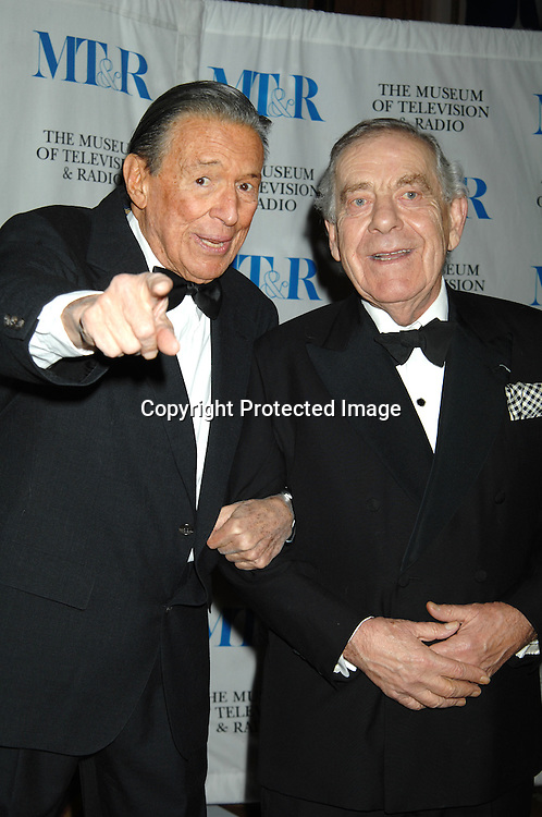 Mike Wallace and Morley Safer..at The Museum of TV & Radio Annual 2007 Gala on ..February 8, 2007 honoring Sir Howard Stringer,Sony Corporation CEO and Chairman at The Waldorf Astoria..Hotel in New York. ..Robin Platzer, Twin Images..