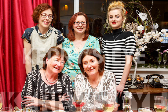 Enjoying a girls night out in the Denny Lane Restruarant on Saturday night.  <br /> Seated l-r, Marion McKenna and Margaret Lyons.<br /> Standing l-r, Mairead Pidgeon, Anna Sheehy and Mairead O&rsquo;Connell.