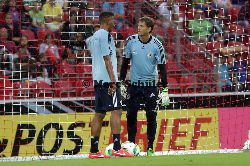 Rene Adler und Jerome Boateng - Oeffentliches Training der Deutschen Nationalmannschaft, Coface Arena Mainz