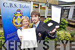 Aki O'Rourke a former student with CBS The Green who was awarded a Gold Gaisce Award pictured with Deputy Principal Anne O'Callaghan.