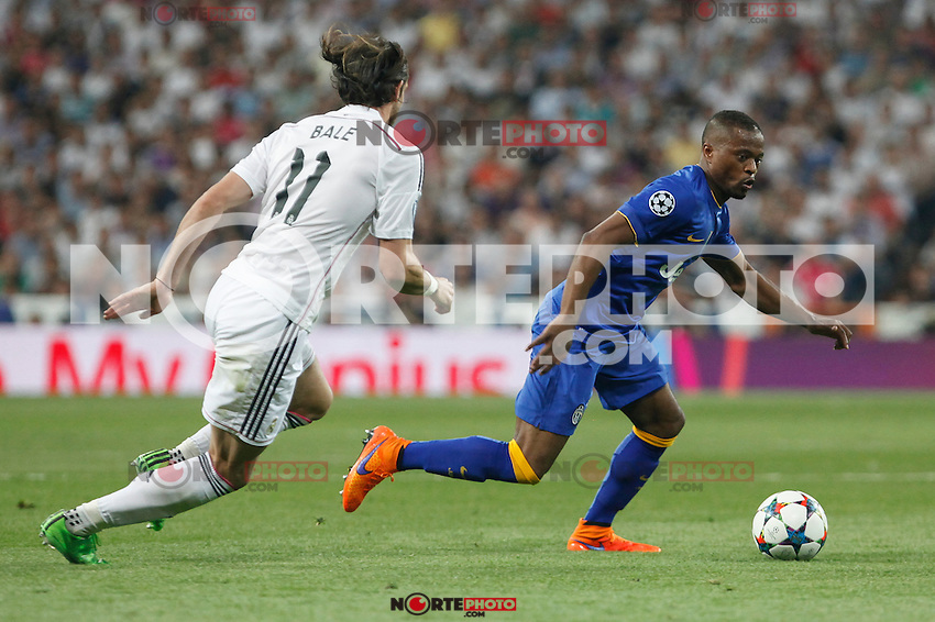 Juventus´s Patrice Evra during the Champions League semi final soccer match between Real Madrid and Juventus at Santiago Bernabeu stadium in Madrid, Spain. May 13, 2015. (ALTERPHOTOS/Victor Blanco) /NortePhoto.COM