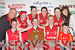 Team Tom McCarthy's who defeated St Paul's in the Senior Ladies final at St Mary's Basketball blitz in Castleisland on Thursday front row l-r: Philamena O'Connor, Eileen O'Connor, Mary Herlihy, Daniel Kelly. Back row: Gerard Murphy, Noreen Kearney, Miriam Leane, Karen Griffin-Kelly, Louise O'Connor and Maura Conroy
