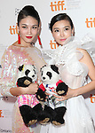Zhang Lanxin and Yao Xingtong attending the The 2012 Toronto International Film Festival Red Carpet Arrivals for 'A Conversation with Jackie Chan' at the Princess of Wales Theatre in Toronto on 9/9/2012