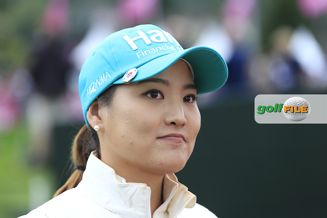 So Yeon Park (KOR) after her match during Saturday's Round 3 of The 2016 Evian Championship held at Evian Resort Golf Club, Evian-les-Bains, France. 17th September 2016.<br /> Picture: Eoin Clarke | Golffile<br /> <br /> <br /> All photos usage must carry mandatory copyright credit (&copy; Golffile | Eoin Clarke)