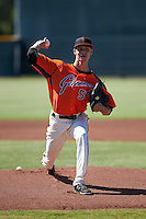 San Francisco Giants pitcher Jordan Johnson (56) during an instructional league game against the Kansas City Royals on October 22, 2015 at the Giants Baseball Complex in Scottsdale, Arizona.  (Mike Janes/Four Seam Images)