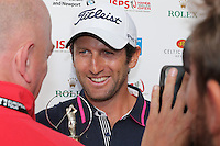 Gregory Bourdy (FRA), pictured during post interview, wins the 2013 ISPS Handa Wales Open from the Celtic Manor Resort, Newport, Wales. Picture:  David Lloyd / www.golffile.ie