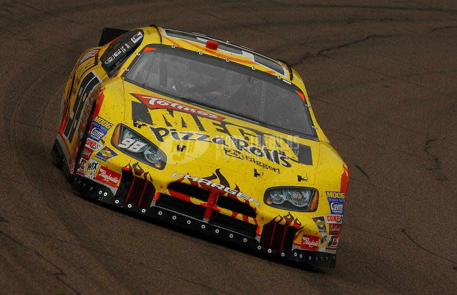 Nov. 11, 2006; Avondale, AZ, USA; Nascar Busch Series driver Erin Crocker (98) during the Arizona Travel 200 at Phoenix International Raceway. Mandatory Credit: Mark J. Rebilas
