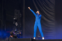 French singer Jain performs on the main stage at Sziget Festival held in Budapest, Hungary on Aug. 7, 2019. ATTILA VOLGYI