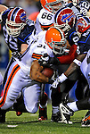 17 November 2008:  Cleveland Browns' running back Jamal Lewis rushes for an 3 yard gain in the third quarter against the Buffalo Bills at Ralph Wilson Stadium in Orchard Park, NY. The Browns defeated the Bills 29-27 in the Monday Night AFC matchup. *** Editorial Sales Only ****..Mandatory Photo Credit: Ed Wolfstein Photo