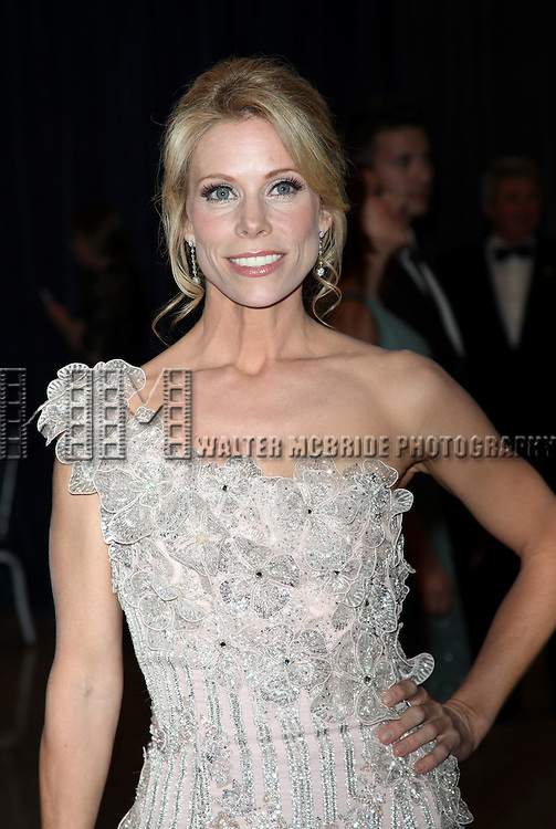 Cheryl Hines.attending the White House Correspondents' Association (WHCA) dinner at the Washington Hilton Hotel in Washington, D.C..