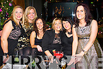 Charlotte Corridan (Duagh) Aoife O'Callaghan (Cork) Denise Fitzgerald and Mary Roche (Castlemahon) with Michelle O'Sulllivan (Newcastlewest) and Valerie Twomey (Knocknagree) enjoying the New Year's Eve celebrations, in the Lane bar, Killarney on Tuesday evening.