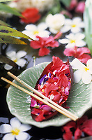 """Asie/Thaïlande/Chiang Mai : Salade de fleurs avec sauce au piment et cacahuètes, citrons et coco - Recette du """"Dok Mai & Sai Mok Restaurant"""""""