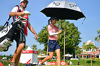 SINGAPORE - MARCH 03: Azahara Munoz of Spain \walking-off the 1st tee during the final round of the HSBC Women's World Championship 2019 at Sentosa Golf Club - Tanjong Course, Singapore on March 03, 2019.<br /> .<br /> .<br /> .<br /> (Photo by: Naratip Golf Srisupab/SEALs Sports Images)<br /> .<br /> Any image use must include a mandatory credit line adjacent to the content which should read: Naratip Golf Srisupab/SEALs Sports Images