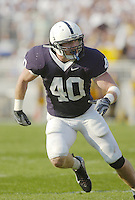 06 October 2007:  Penn State LB Dan Connor (40) had 9 tackles and one sack.  The Penn State Nittany Lions defeated the Iowa Hawkeyes 27-7 October 6, 2007 at Beaver Stadium in State College, PA.