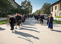 The class of 2021 are welcomed to Occidental College by trustees, faculty and staff in Thorne Hall on Aug. 29, 2017 during Oxy's 130th Convocation ceremony, a tradition that formally marks the start of the academic year and welcomes the new class.<br /> (Photo by Marc Campos, Occidental College Photographer)
