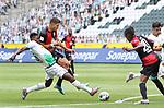 Gladbachs Breel Embolo (links) im Duell mit Marko Grujic -<br />(rechts: Anga Dedryck Boyata (Nr 20) und Lars Stindl -<br /><br /><br />27.06.2020, Fussball, 1. Bundesliga, Saison 2019/2020, 34. Spieltag, Borussia Moenchengladbach - Hertha BSC Berlin,<br /><br />Foto: Johannes Kruck/POOL / via / Meuter/Nordphoto<br />Only for Editorial use