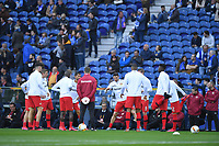 27th February 2020; Dragao Stadium, Porto, Portugal; UEFA Europa League  FC Porto versus Bayer Leverkusen; Players of Bayer Leverkusen warm up before the match