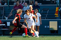 Rochester, NY - Saturday July 23, 2016: Western New York Flash midfielder McCall Zerboni (7), FC Kansas City midfielder Mandy Laddish (7) during a regular season National Women's Soccer League (NWSL) match between the Western New York Flash and FC Kansas City at Rochester Rhinos Stadium.