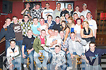 BIRTHDAY BOY: Justin Horgan, Ardfert (seated centre), having a great time with the NCA boys and other friends at his 18th birthday bash held in The Abbey Tavern, Ardfert, on Friday night...   Copyright Kerry's Eye 2008