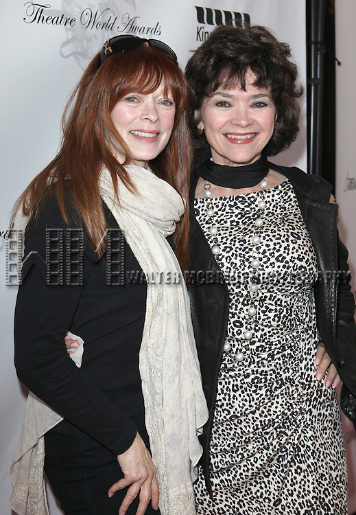 Frances Fisher & Linda Hart.arriving for the 68th Annual Theatre World Awards at the Belasco Theatre  in New York City on June 5, 2012.