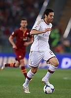 Calcio, Serie A: Roma vs Milan. Roma, stadio Olimpico, 25 aprile 2014.<br /> AC Milan forward Ricardo Kaka', of Brazil, in action during the Italian Serie A football match between AS Roma and AC Milan at Rome's Olympic stadium, 25 April 2014.<br /> UPDATE IMAGES PRESS/Isabella Bonotto