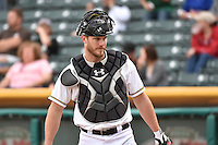 John Hester (22) of the Salt Lake Bees during the game against the Reno Aces at Smith's Ballpark on May 4, 2014 in Salt Lake City, Utah.  (Stephen Smith/Four Seam Images)