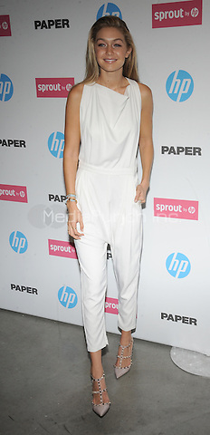 New York,NY- October 29: Gigi Hadid attends the red carpet at the Sprout by HP and HP Multi Jet Fusion 3D Printer Launch Event in New York City on October 29,2014.  Credit: John Palmer/MediaPunch