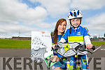 Evan Nealon who has Cystic fibrosis has two Dreams one was to cycle with Tralee bike club, which he has achieved, other is to sing with Ed Sheeran pictured here with mom Laura Jane Nealon