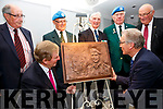 Former Taoiseach Enda Kenny with Leo Quinlan at the unveiling of a plaque to Colonel Patrick Quinlan in the Sea Lodge Waterville on Saturday with back some of the men who served with Patrick Quinlan in the Congo l-r; Tadhg Quinn, Leo Boland, Noel Carey, Tom Gunne & Senator Gerard Craughwell.