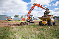 Stripping top soil from the AD site - Lincolnshire