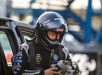 Sep 29, 2017; Madison , IL, USA; NHRA funny car driver Del Worsham during qualifying for the Midwest Nationals at Gateway Motorsports Park. Mandatory Credit: Mark J. Rebilas-USA TODAY Sports
