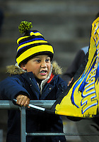 A young Hurricanes fan during the Super Rugby match between the Hurricanes and Southern Kings at Westpac Stadium, Wellington, New Zealand on Friday, 25 March 2016. Photo: Dave Lintott / lintottphoto.co.nz