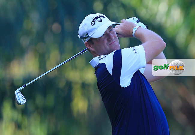 Marc Warren (SCO) on the 5th tee during Round 4 of the Maybank Championship on Sunday 12th February 2017.<br />