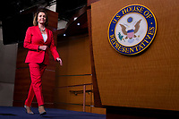 House Democratic Leader Nancy Pelosi, Democrat of California, walks to the podium prior to speaking with reporters during her weekly press conference on Capitol Hill in Washington, DC on June 7, 2018. <br /> CAP/MPI/RS<br /> &copy;RS/MPI/Capital Pictures