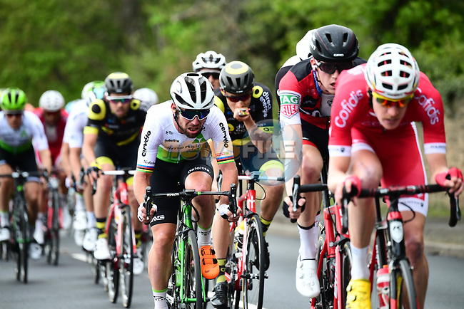 The peleton including Mark Cavendish (GBR) Team Dimension Data in action during Stage 2 of the Tour de Yorkshire 2018 running 149km from Barnsley to Ilkley, England. 4th May 2018.<br /> Picture: ASO/Alex Broadway | Cyclefile<br /> <br /> <br /> All photos usage must carry mandatory copyright credit (© Cyclefile | ASO/Alex Broadway)