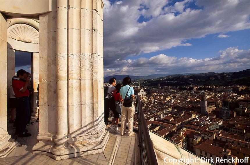 auf der Domkuppel, Florenz, Toskana, Italien, Unesco-Weltkulturerbe