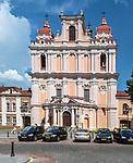 Litwa, Wilno, 08.07.2014. Wilno, Kościół św. Katarzyny przy ulicy Wileńskiej.
