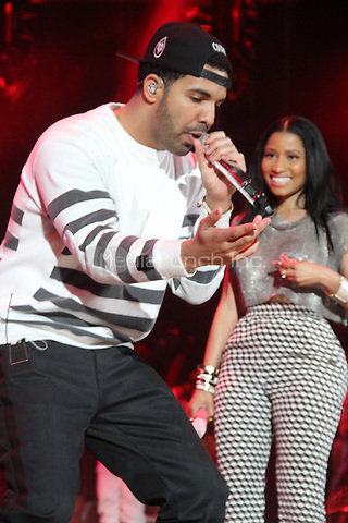 East Rutherford, NJ - June 1, 2014<br /> <br /> Drake &amp; Nicki Minaj perform at the Hot 97 Summer Jam 2014 concert at Metlife Stadium, June 1, 2014 in East Rutherford, NJ<br /> <br /> <br />  Walik Goshorn/MediaPunch
