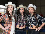 Tara Clerkin, Roisin O'Sullivan and Kellyann Reilly pictured at the barn dance in aid of Ballapousta National School at Oberstown Farm. Photo:Colin Bell/pressphotos.ie