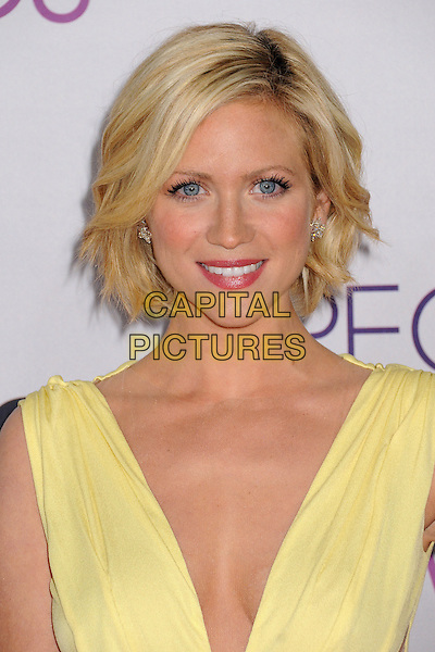 Brittany Snow.People's Choice Awards 2013 - Arrivals held at Nokia Theatre L.A. Live, Los Angeles, California, USA..January 9th, 2013.headshot portrait yellow plunging neckline sleeveless.CAP/ADM/BP.©Byron Purvis/AdMedia/Capital Pictures.